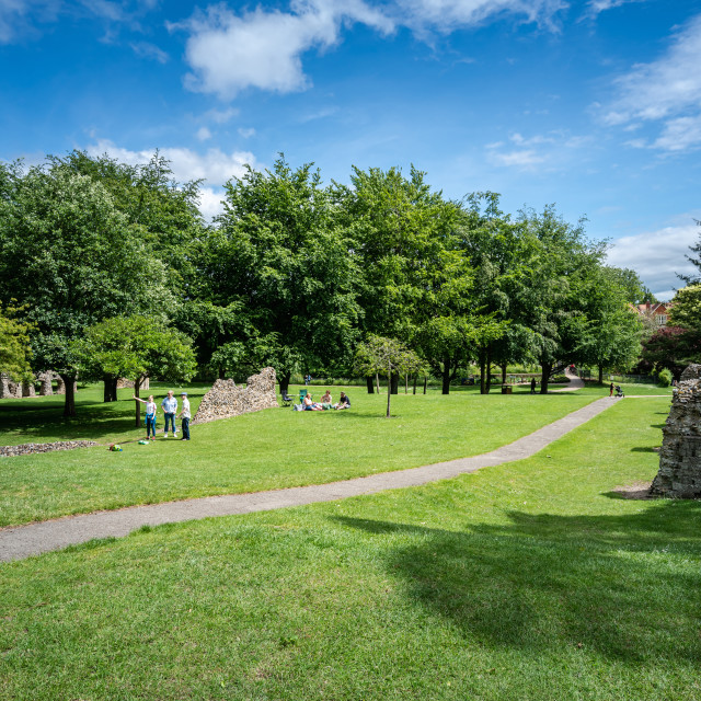 """""""Abbey gardens in Bury St Edmunds,"""" stock image"""