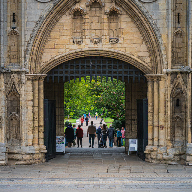 """""""Abbey Gate on Angel Hill in Bury St. Edmunds"""" stock image"""