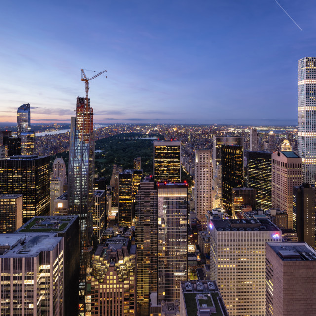 """""""Skyline of Manhattan and Central Park"""" stock image"""