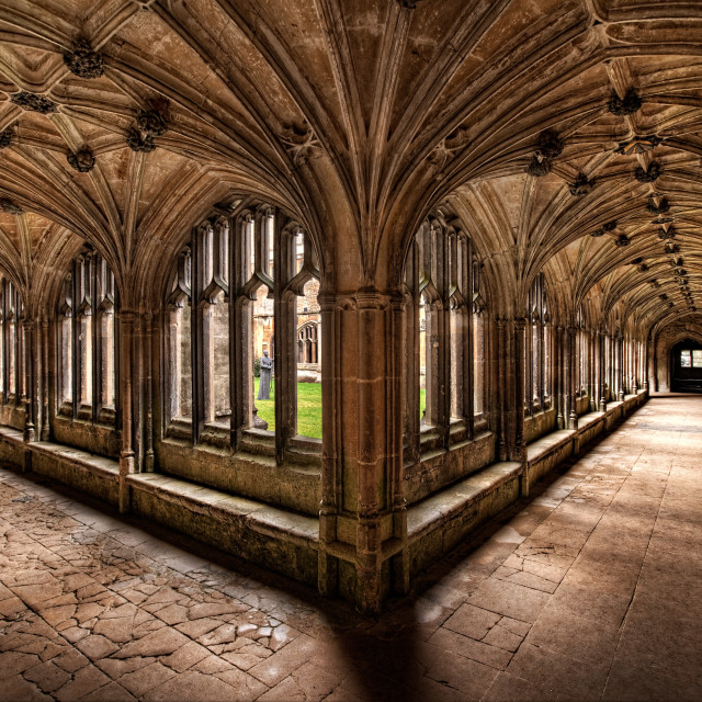 """Lacock Abbey"" stock image"