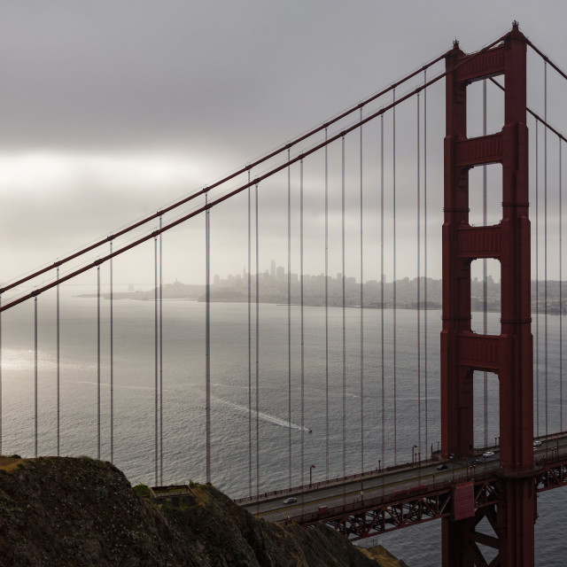 """""""Golden Gate and San Francisco Bay"""" stock image"""