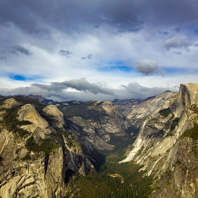 """Half Dome from Glacier Point"" stock image"