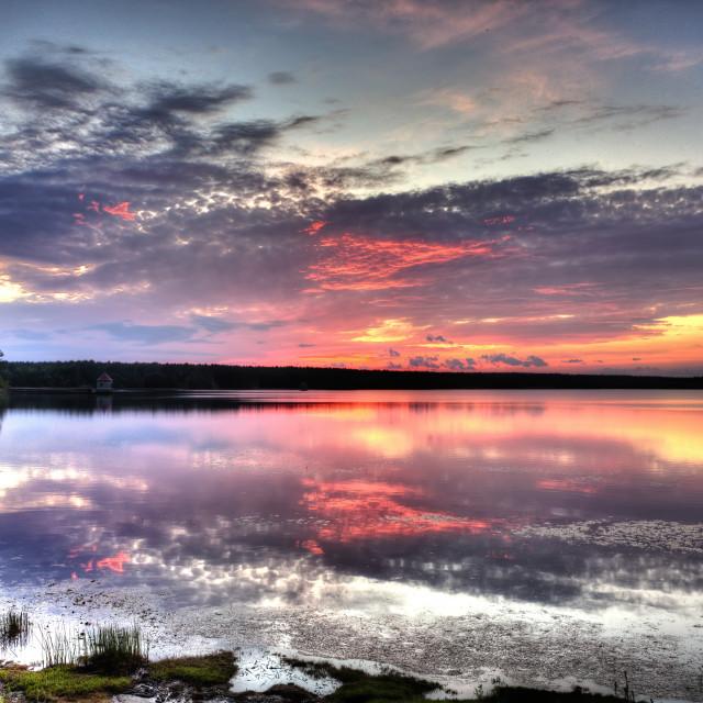 """Sunset at waterworks"" stock image"