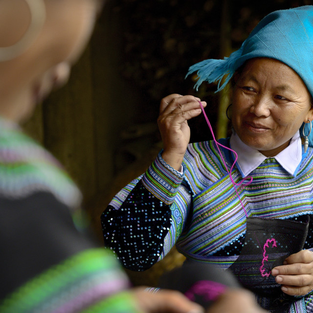 """White Hmong Women 01"" stock image"