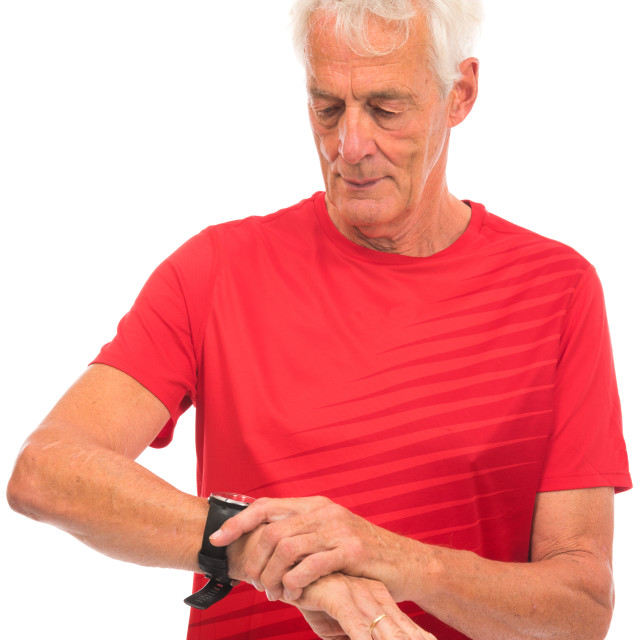 """Portrait senior sport man"" stock image"
