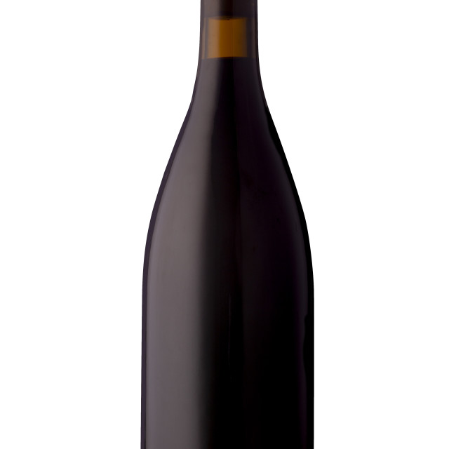 """""""A bottle of red wine with no label"""" stock image"""