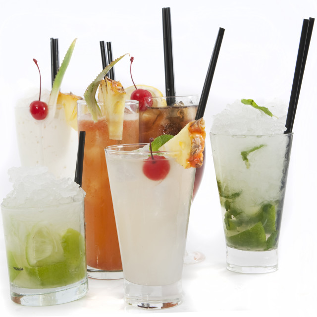 """""""Rum cocktail collection"""" stock image"""