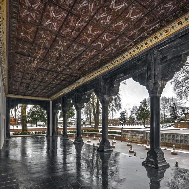 """""""Nishat Bagh (Garden), Srinagar"""" stock image"""