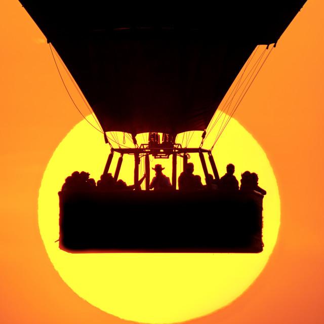 """Sunrise at Masai Mara"" stock image"