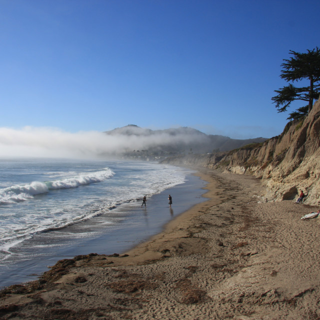 """California: The Day the Fog Rolled In"" stock image"