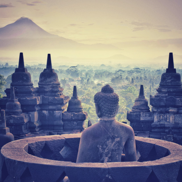 """Borobudur Sunrise"" stock image"