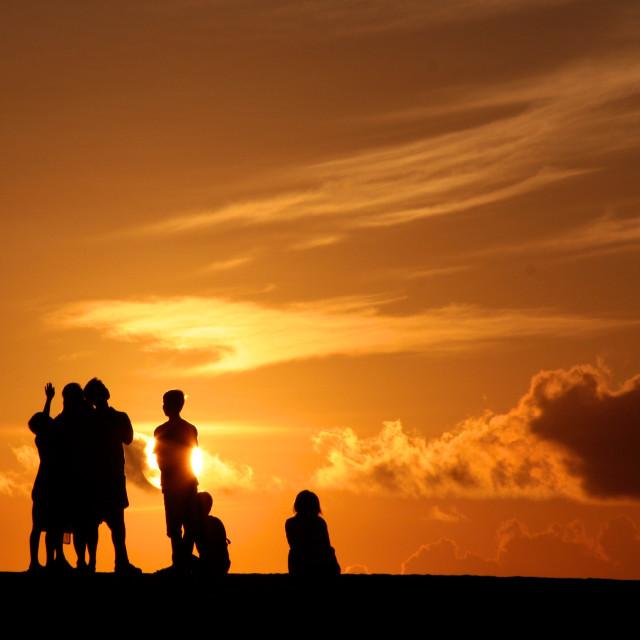 """""""Bali Sunrise"""" stock image"""