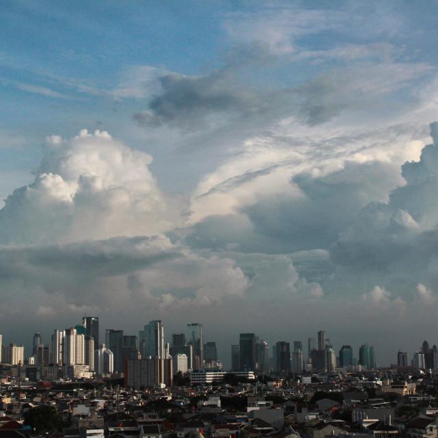 """City Skyline, Jakarta"" stock image"