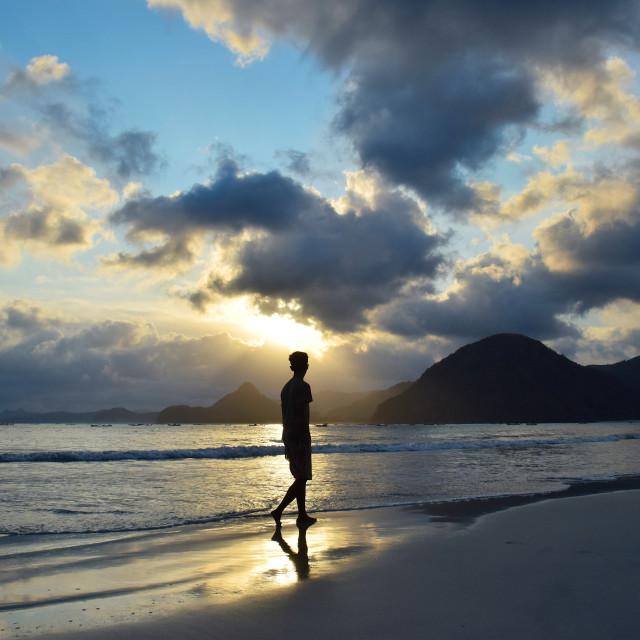 """Life's a Beach, Lombok"" stock image"