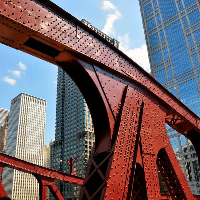 """Bridge in Chicago"" stock image"