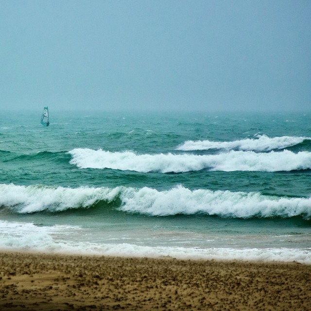 """Solo Surfer"" stock image"