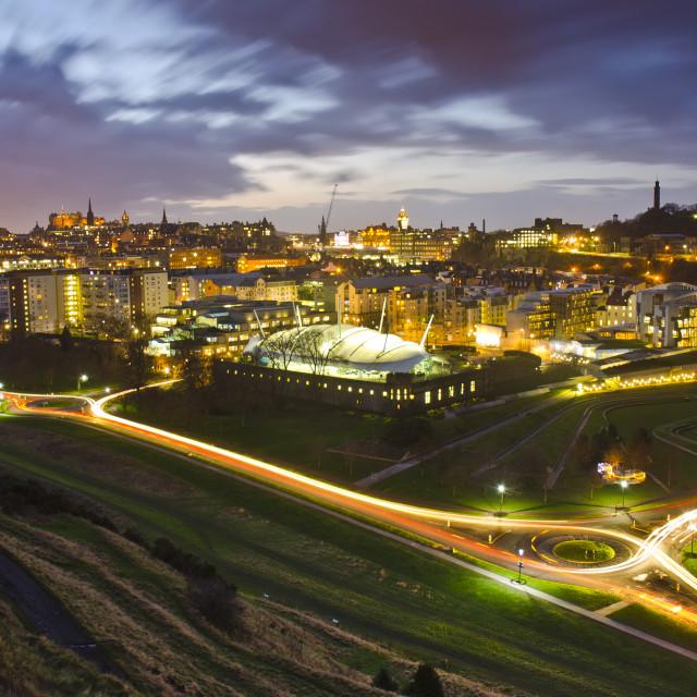 """Edinburgh at Twilight"" stock image"