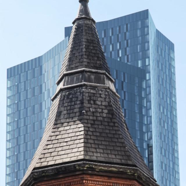 """Manchester - Original / Modern - Deansgate Square & City Road Inn"" stock image"