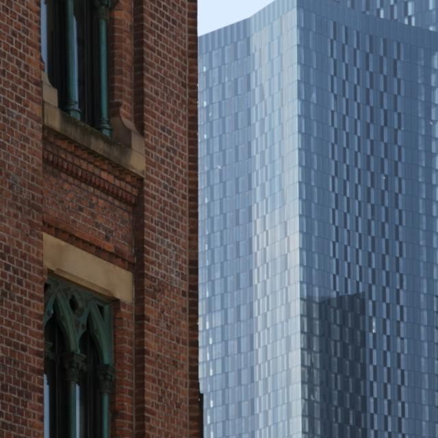 """Manchester - Original / Modern - Albion Wharf & Deansgate Square"" stock image"