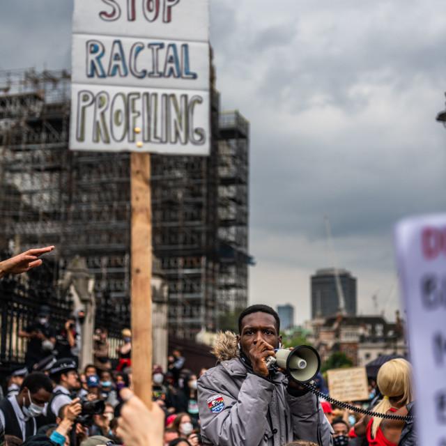 """Black Lives Matter Protest in London"" stock image"