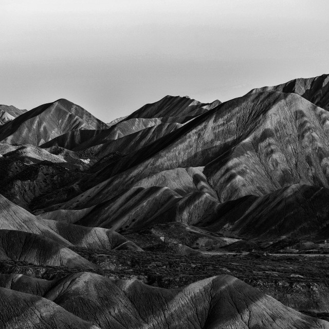 """""""Black and White - Stripes on the Mountains"""" stock image"""