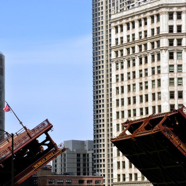 """DuSable Bridge"" stock image"