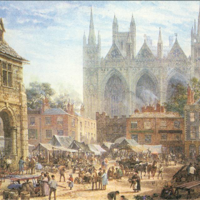 """Market Place (1864)"" stock image"