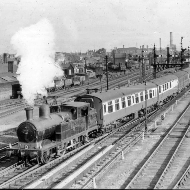 """Railway Panorama (1958)"" stock image"