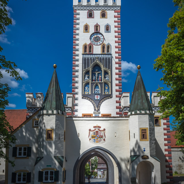 """Landsberg am Lech, Bayertor"" stock image"