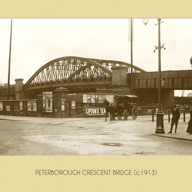 """Crescent Bridge (1913)"" stock image"
