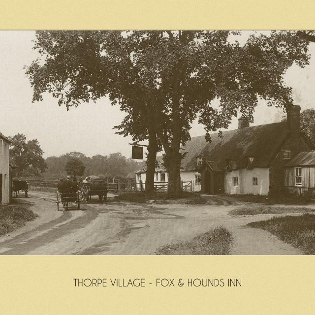 """Longthorpe, Fox & Hounds"" stock image"