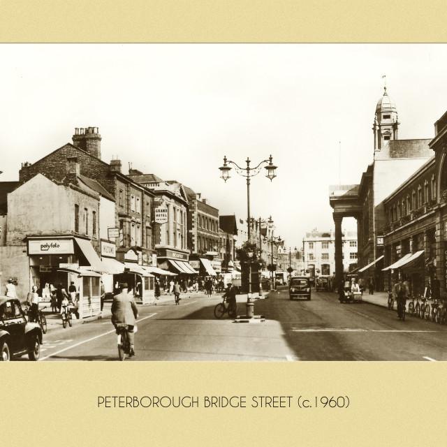 """""""Bridge Street (c.1960)"""" stock image"""