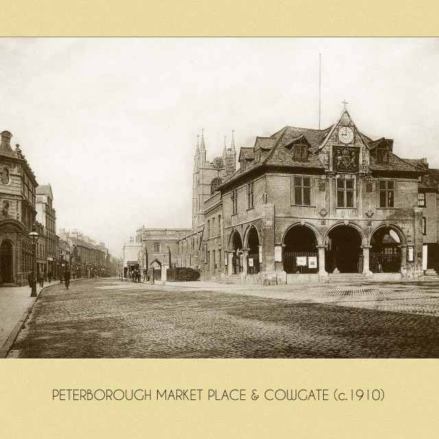 """""""Market Place & Guildhall (c.1910)"""" stock image"""