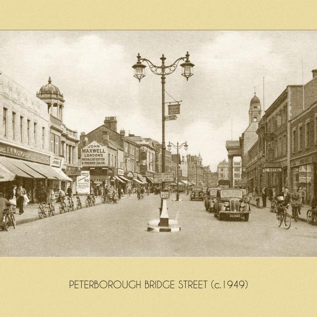 """""""Bridge Street (1949)"""" stock image"""