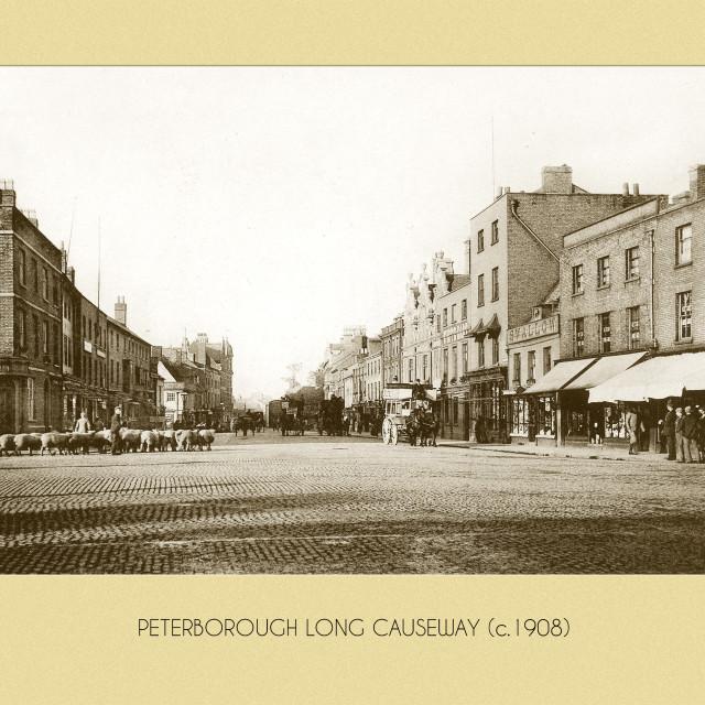 """""""Long Causeway (c.1908)"""" stock image"""