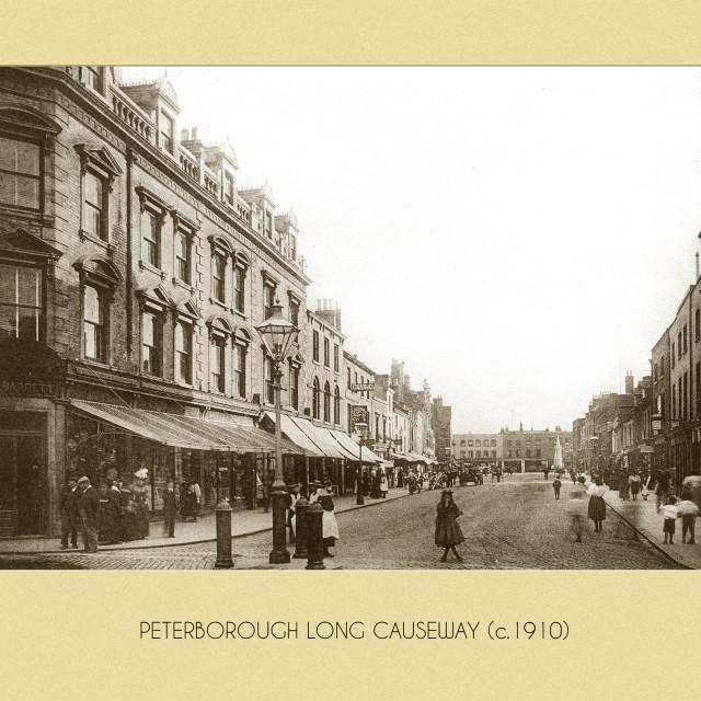 """""""Long Causeway (c.1910)"""" stock image"""