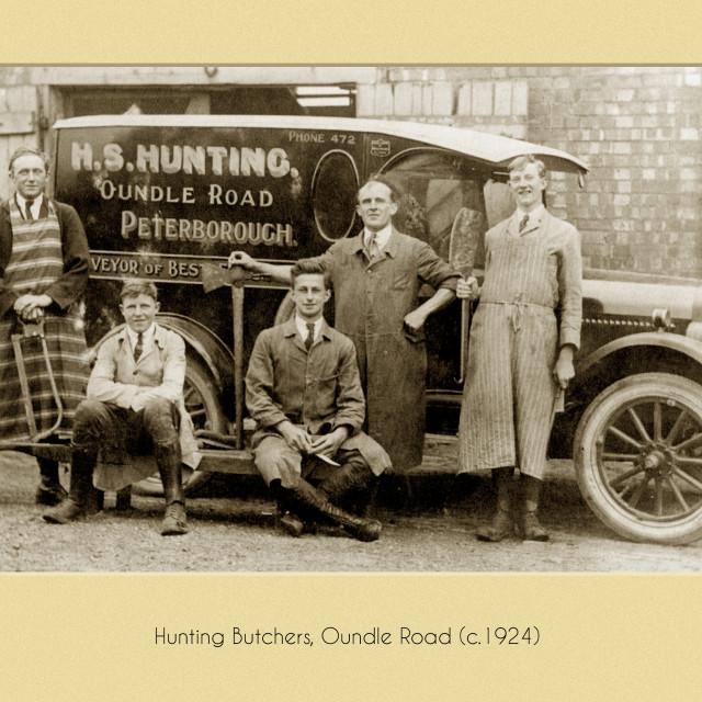 """Hunting Butchers (c.1924)"" stock image"