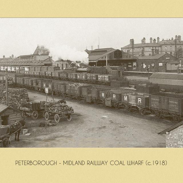 """""""Railway Coal Wharf (c.1918)"""" stock image"""