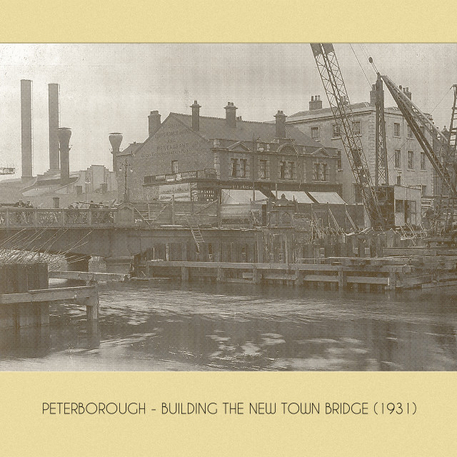"""""""New Town Bridge (1931)"""" stock image"""