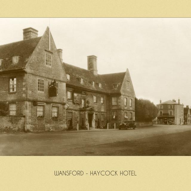 """Haycock Hotel, Wansford"" stock image"