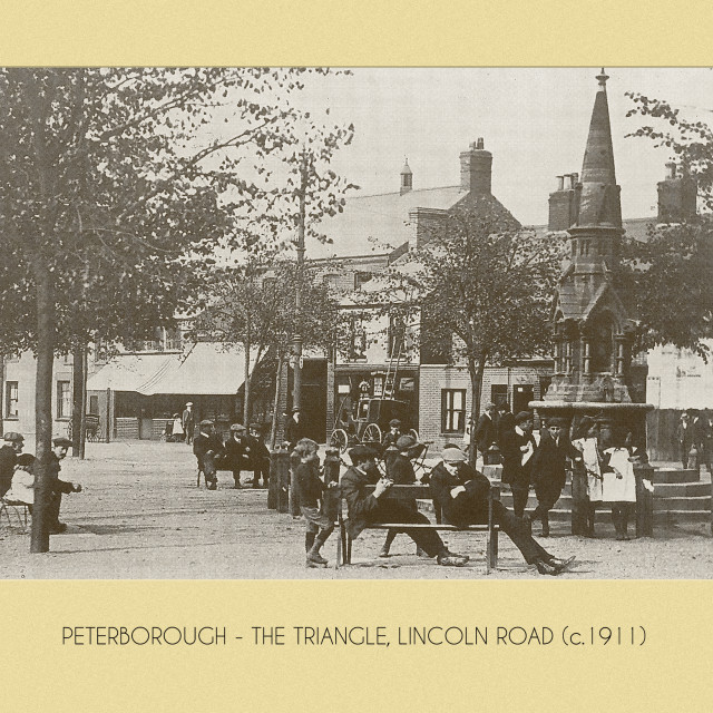 """""""The Triangle, Lincoln Road (c.1911)"""" stock image"""