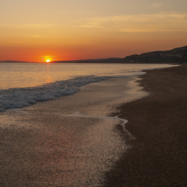 """""""Niton , Old BLackgang Beach"""" stock image"""