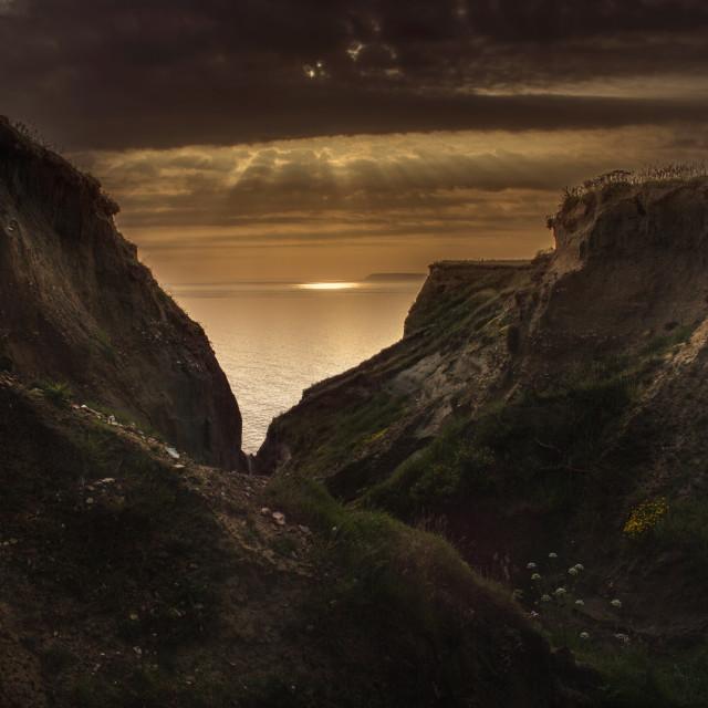 """""""Walpen Chine,Isle of Wight"""" stock image"""