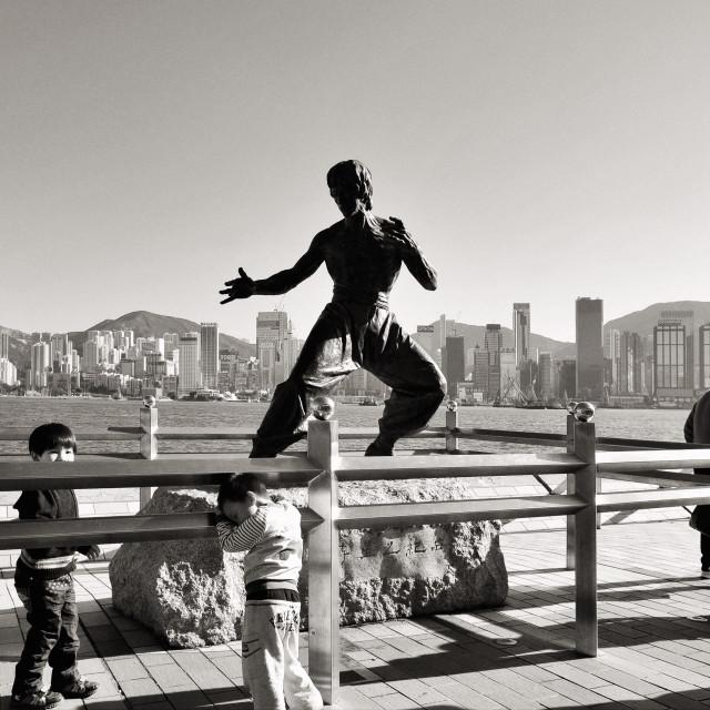 """Avenue of Stars, Hong Kong"" stock image"