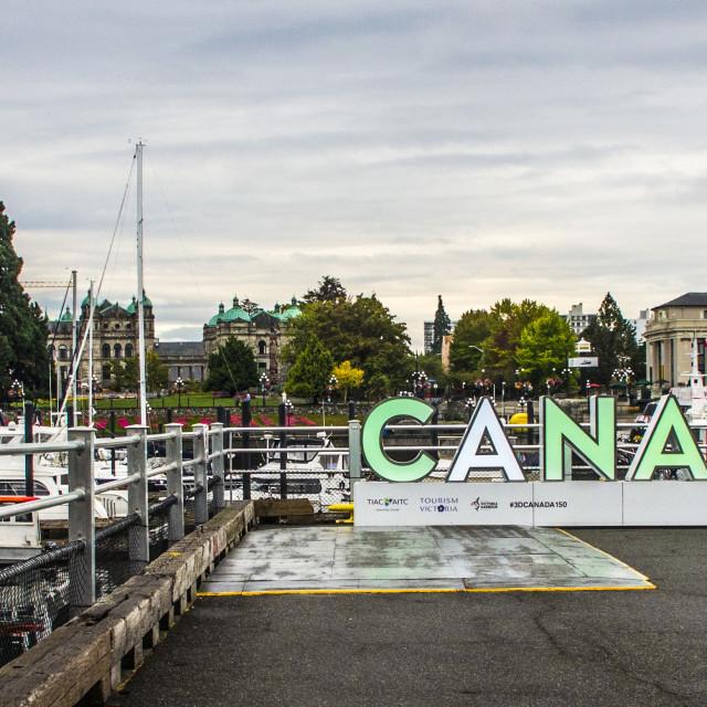 """Around The Inner Harbour, Victoria, British Columbia, Canada"" stock image"