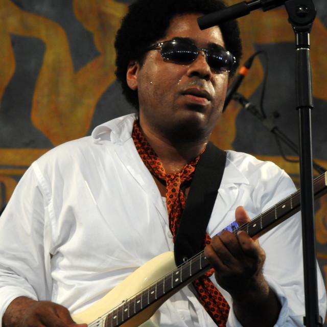 """Chris Thomas King at Jazz Fest"" stock image"