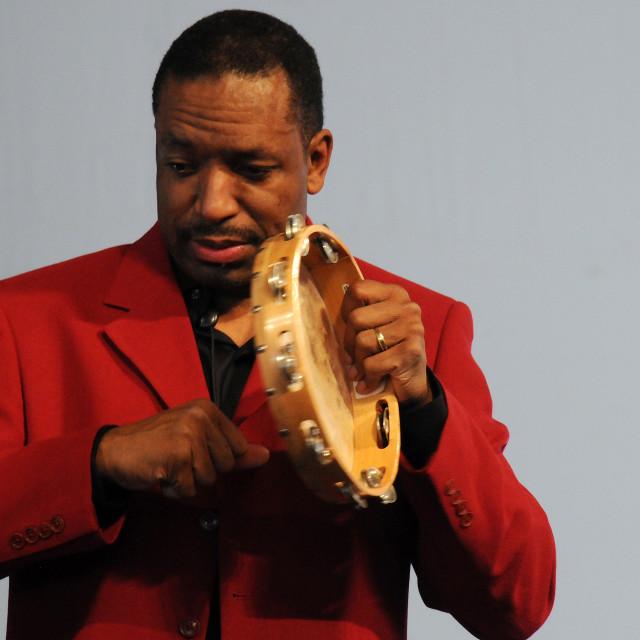 """Donald Harrison at Jazz Fest"" stock image"