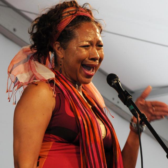 """Julie Spellman at Jazz Fest"" stock image"