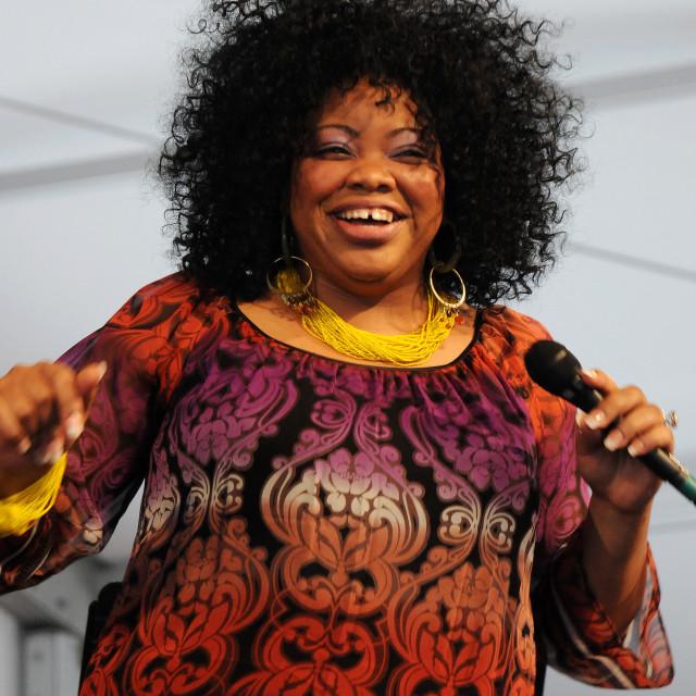"""Nicole Slack Jones at Jazz Fest"" stock image"