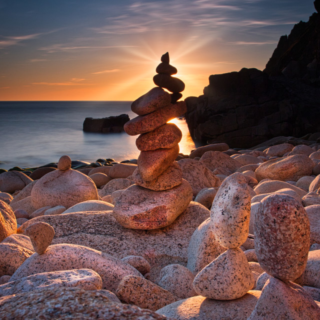 """Porth Nanven, Cornwall, UK."" stock image"